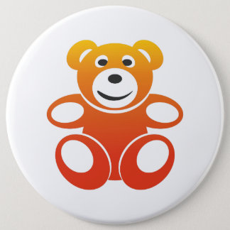 Smiling Summer Teddy Pinback Button