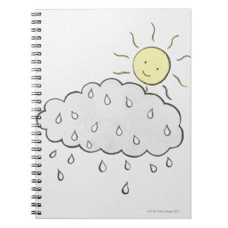 Smiling Sun 2 Spiral Notebook