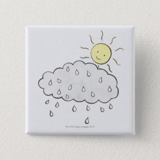 Smiling Sun 2 Pinback Button