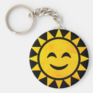 Smiling Sun Emoji Keychain