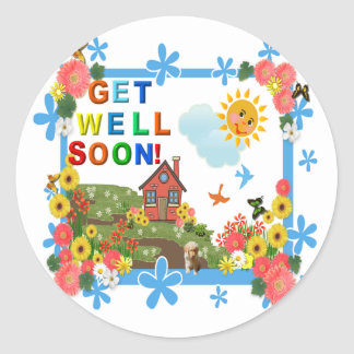 SMILING SUN Get Well  Stickers