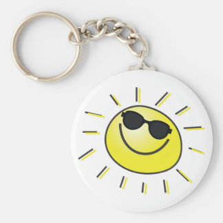 Smiling Sun Keychain