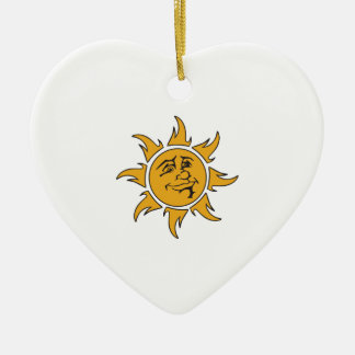 Smiling Sun Christmas Tree Ornaments