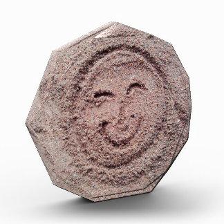 Smiling Sun, Sand Emoticon, Summer Emoji Acrylic Award