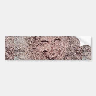 Smiling Sun, Sand Emoticon, Summer Emoji Bumper Sticker