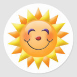 Smiling Sun Stickers