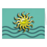 Smiling Sun Summer Solstice Greeting Card