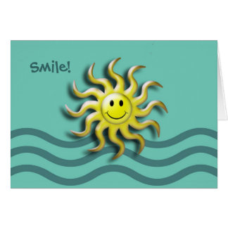 Smiling Sun Summer Solstice Party Invitation Card