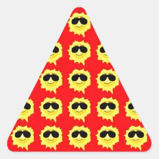 Smiling Sun Triangle Sticker