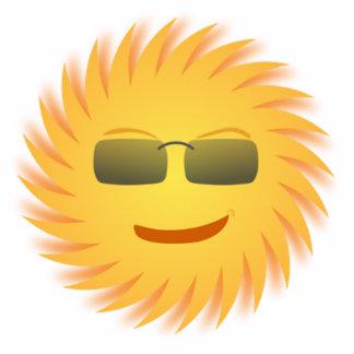 Smiling Sun Wearing Sunglasses Cutout