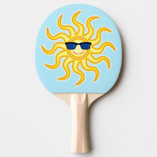 Smiling Sun Wearing Sunglasses Ping-Pong Paddle