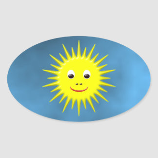 Smiling Sun with blue sky sticker