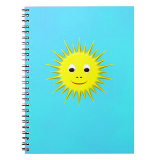 Smiling Sun with cyan sky notebook