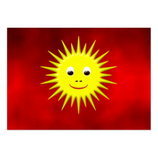 Smiling Sun with red sky business card