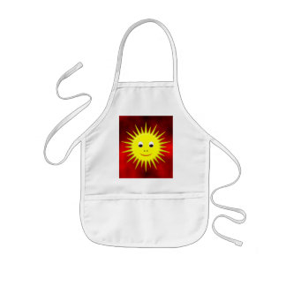 Smiling Sun with red sky Kids' Apron