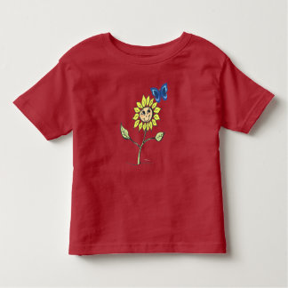 Smiling sunflower butterfly drawing Shirt