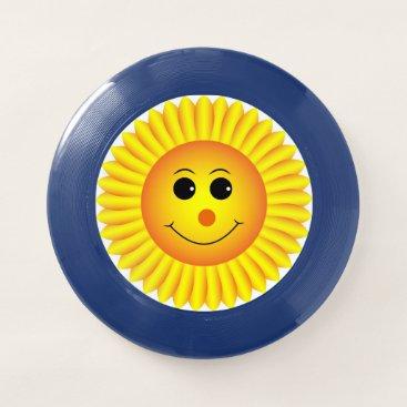 Smiling Sunflower Wham-O Frisbee