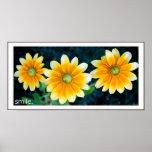 Smiling Sunflowers Print