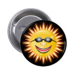 Smiling Sunshine Buttons