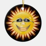 Smiling Sunshine Ceramic Ornament