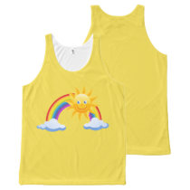 Smiling Sunshine Rainbow All-Over-Print Tank Top