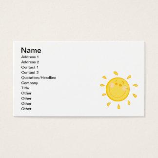 SMILING SUNSHINE SUN HAPPY SUMMER CARTOON ART BUSINESS CARD