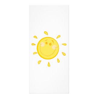 SMILING SUNSHINE SUN HAPPY SUMMER CARTOON ART RACK CARD