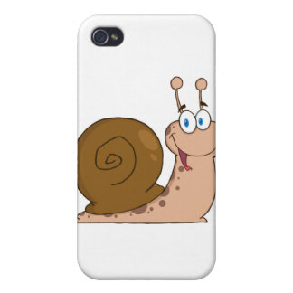 Smiling Super Snail iPhone 4/4S Cover