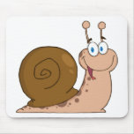 Smiling Super Snail Mousepad
