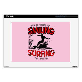 SMILING SURFING AT WEEKEND (BLK) SKIN FOR LAPTOP