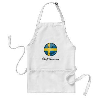 Smiling Swedish Flag Adult Apron