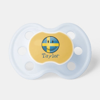 Smiling Swedish Flag Pacifier