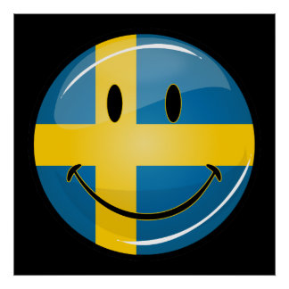 Smiling Swedish Flag Poster