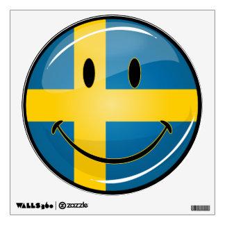 Smiling Swedish Flag Wall Decal