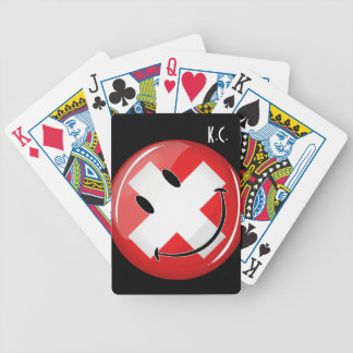 Smiling Swiss Flag Bicycle Playing Cards