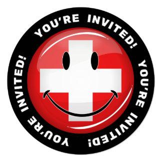 Smiling Swiss Flag Card
