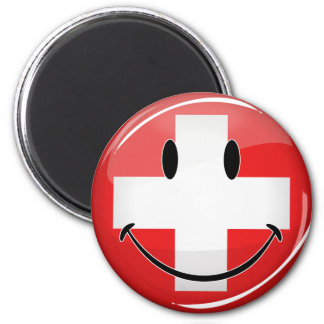Smiling Swiss Flag Magnet