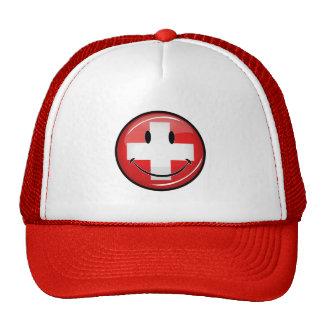 Smiling Swiss Flag Trucker Hat