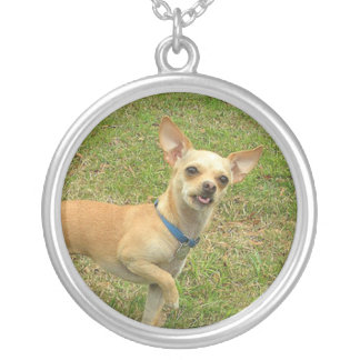 Smiling Tan Chihuahua Necklace