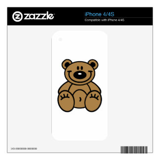 Smiling teddy bear skin for iPhone 4