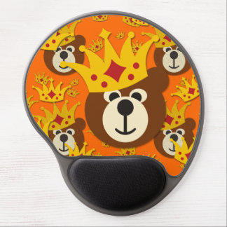 Smiling Teddy Bear with Crown Gel Mouse Pad