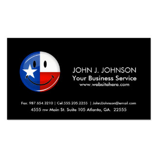 Smiling Texas Flag Double-Sided Standard Business Cards (Pack Of 100)