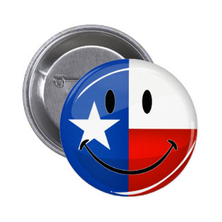Smiling Texas Flag Button