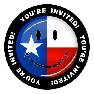 Smiling Texas Flag Card