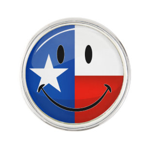 Smiling Texas Flag Lapel Pin
