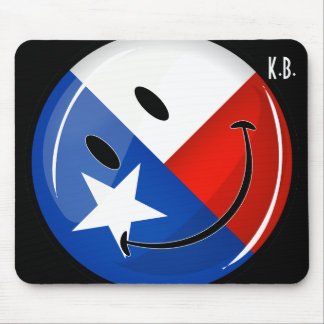 Smiling Texas Flag Mouse Pad