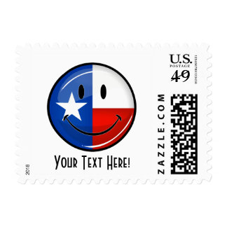 Smiling Texas Flag Postage