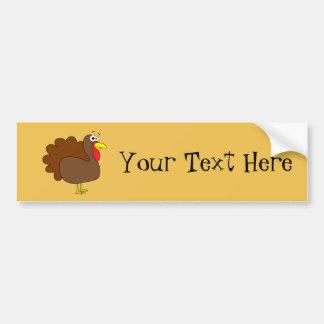 Smiling Thanksgiving Turkey Gobbler Bumper Sticker