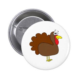 Smiling Thanksgiving Turkey Gobbler Button
