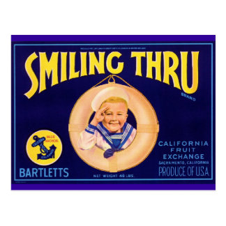 Smiling Thru Post Card